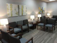 Alexis Pearl Design | Texas Vascular Associates, modern doctors office, grey, Arden Art, Geiger