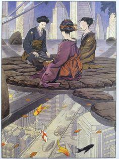 """""""De poorten naar het mogelijke"""" futuristic graphic novel, Benoît Peeters & François Schuiten."""