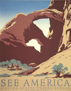 travel to national parks poster | ... grand canyon national park poster national park service circa 1938
