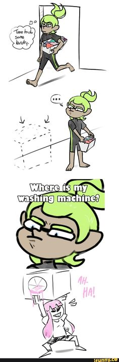 Lol the washing machine, the sloshing machine, the horrible sloshes nobody likes uses those!
