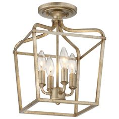 Laurel Estate Brio Gold Four Light 15 Inch Pendant Minka Lavery Lantern Lighting C