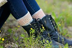 Grey Boot Cuffs - free crochet pattern by Stacey Williams (Busting Stitches) at Melody's Makings. Easy Crochet, Free Crochet, Irish Crochet, Crochet Boot Cuff Pattern, Crochet Patterns Free Women, Knit Patterns, Crochet Leg Warmers, Bag Pattern Free, Crochet Boots