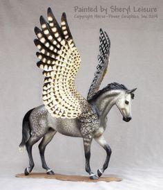 Stone Thoroughbred Pegasus Fantasy