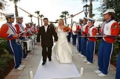 And I want the Drumline to play me down the  aisle!! How cool?!!