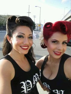 Double trouble - gorgeous pinup hair x