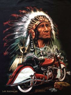 Screen on my t-shirt Motorcycle Paint Jobs, Motorcycle Posters, Motorcycle Art, Bike Art, Native American Pictures, Native American Artwork, Native American Indians, American Indian Tattoos, American Indian Art