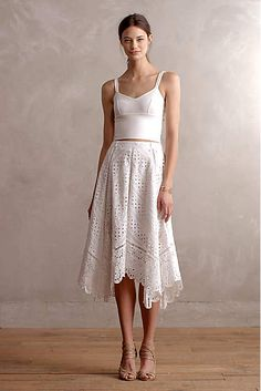 Gemma Embroidered Skirt - anthropologie.com