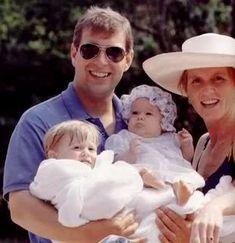 Prince Andrew, Princesses Beatrice,  Eugenie, Sarah 1990