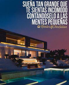 Sea lo que sea que estés pensando, piénsalo en grande ⛏ @mentorofthebillion… Spanish Inspirational Quotes, Spanish Quotes, Motivational Quotes, Mentor Of The Billion, Positive Phrases, Millionaire Quotes, Entrepreneur Inspiration, Just Be You, Enjoy Your Life