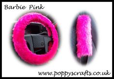 Fluffy Barbie Pink Car Steering wheel cover & matching fuzzy faux fur seatbelt pad set girly girl car accessories sold by Poppys Crafts. Shop more products from Poppys Crafts on Storenvy, the home of independent small businesses all over the world. Fuzzy Steering Wheel Cover, Hot Pink Cars, Lilly Pulitzer, Girls Pad, Seat Belt Pads, Barbie Car, Pink Faux Fur, Car Accessories For Girls, Cute Cars