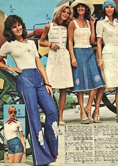 En 1975 on avait déjà des flares jeans sauf qu'on n'appelait pas ça comme ça.