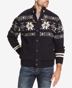 Weatherproof Vintage Men s Fair Isle Sweater Jacket Jacket Men 5cf5fa556