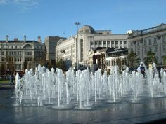 Manchester Piccadilly, fountains were to modernise gardens, vandalism!