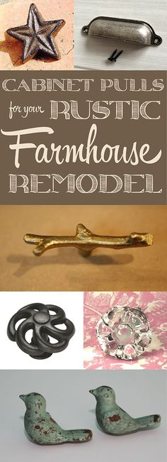 Rustic Farmhouse Hardware ~ Add some finishing touches to your rustic farmhouse remodel with these cabinet knobs and pulls! | #Ad