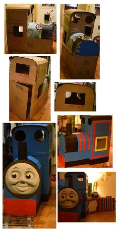 My own attempt in making a Thomas from cardboard boxes DIY