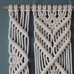Colgante de pared de macrame  EMMA  100% cordón de algodón