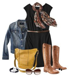 """On ""Target"" for Fall"" by mommygerloff ❤ liked on Polyvore featuring Mossimo and Merona"