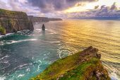 Cliffs of Moher at sunset, Co. Clare, Ireland - 82521791