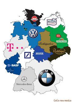 Markenrepublik Deutschland/brands in Germany German Resources, German Grammar, German Language Learning, Budget Planer, Learn German, Mario And Luigi, Historical Maps, Germany Travel, Knowledge