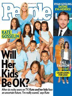Kate Gosselin & her kids in People.