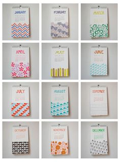 Paper Hounds: Linda & Harriet 2012 Letterpress Calendar