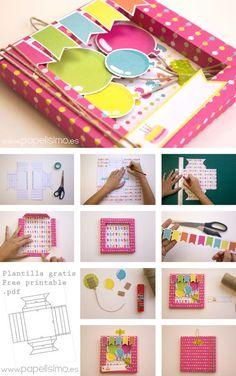 Como hacer tarjeta de cumpleaños 3D Scrapbooking: