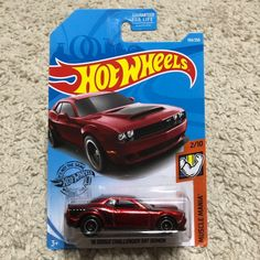 •  SUPER TREASURE HUNT  • Collectibles  • Ship in protector  • Card may have flaws or shelf wear.  -Pls see pics • Sorry, no free shipping. • SAVE ON SHIPPING BY BUNDLING YOUR    ITEMS!!! Swat Costume Kids, Dodge Dart Gt, Best Christmas Toys, Challenger Srt Demon, Super Treasure Hunt, Passenger Aircraft, Life Car, Bugatti Cars, Matchbox Cars