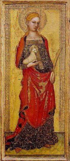 Andrea di Bonaiuto da Firenze (1346-1379) ~ St. Agnes ~ 1365 ~ Italian Gothic