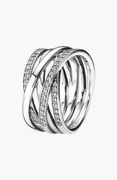 PANDORA 'Entwined' Stack Ring available at #Nordstrom