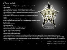 Gemini Pictures of Zodiac Signs | Gemini wallpaper by ~terryrism on deviantART Love it!!!!