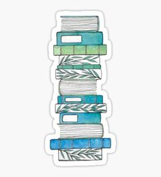 High quality Book Stacks gifts and merchandise. Inspired designs on t-shirts, posters, stickers, home decor, and more by independent artists and designers from around the world. Homemade Stickers, Free Stickers, Printable Planner Stickers, Journal Stickers, Sticker Shop, Sticker Design, Cute Laptop Stickers, Bullet Journal Ideas Pages, Aesthetic Stickers
