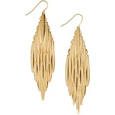 H Earrings ($6.39) ❤ liked on Polyvore