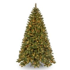 Prelit Artificial Christmas Tree | Carolina Fir Pre-Lit Artificial Christmas Tree - American Sale