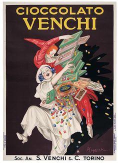 Vintage Italian Poster ~ Leonetto Cappiello, Cioccolato Venchi, 1923
