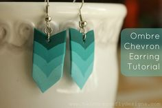 Ombre Chevron Earring Tutorial » Dragonfly Designs