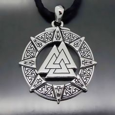 Odin 's Symbol of Norse Viking Warriors Pewter Pendant and Necklace