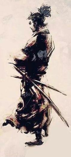 Miyamoto Musashi a ronin samurai Samurai Tattoo, Ronin Tattoo, Ronin Samurai, Samurai Artwork, Samurai Drawing, Miyamoto Musashi, Desenho Tattoo, Wow Art, Japan Art