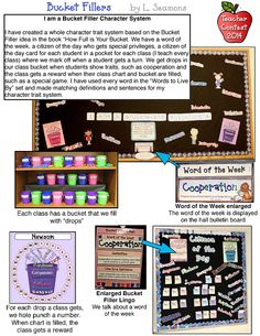 This use of our 'Words to Live By' collection is one of a kind! We think that L. Seasmons' 'Bucket Fillers' is an excellent system with several fabulous ways for students to be inspired.  DJ's Back to School Teacher Contest 2014
