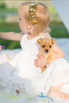 Little girl's glitter birthday party: http://www.stylemepretty.com/living/2014/07/31/glitter-gold-little-girls-birthday-party/