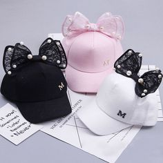New Baby Hat Cap Spring Summer Baby Girl Hat Kids Baseball Cap for Girls Big Bow Rabbit Ear Sun Hat Bunny Hats Cap for Children Baby Girl Hats, Girl With Hat, Baby Girls, Stylish Caps, Pearl Beach, Cute Caps, Bunny Hat, Hip Hop Hat, Ear Hats