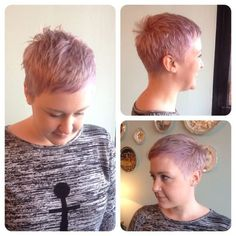 pixie, shaved cut: