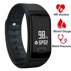 Fitness Tracker Band Smart Bracelet with Oxygen Blood Pressure/Heart Rate/Sleep Monitor Bluetooth Waterproof Sports Activity Tracker with OLED Touch Screen for Android and iOS -- Check out this great product. (This is an affiliate link) Smartwatch, Smart Watch Price, Fitness Tracker Band, Ios Iphone, Calorie Counter, Fitness Bracelet, Smart Bracelet, Heart Rate Monitor, Black