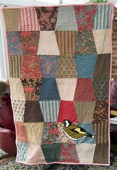 goldfinch quilt completed! by pennydogaccessories, via Flickr