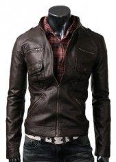 Zip Pocket Dark Brown Jacket