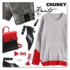 """""""Chunky Knits"""" by oshint ❤ liked on Polyvore featuring 2nd Day and Smashbox"""