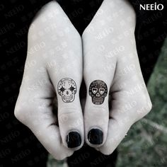 Temporary tattoo emotional skull for fingers arms body tattoo stickers ...