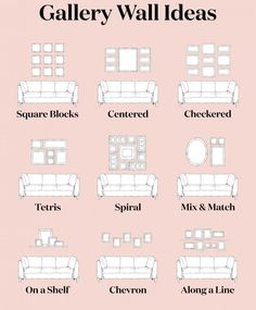 21 Gallery Wall Hanging Tips Boho Living Room, Home And Living, Living Room Decor, Small Living Rooms, Home Interior Design, Interior Decorating, Deco Studio, Gallery Wall Layout, Gallery Wall Frames