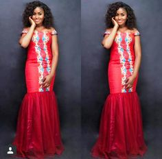 Beautiful Ankara Red Gown Design >>see More >> http://www.dezangozone.com/2015/04/beautiful-ankara-red-gown-design.html