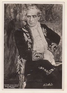 Mariano Stabile Italian baritone as Scarpia, Antwerp 1936