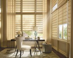 Hunter Douglas' Vignette Modern Roman shade has no exposed rear cords which eliminates the possibility of a tangled mess!